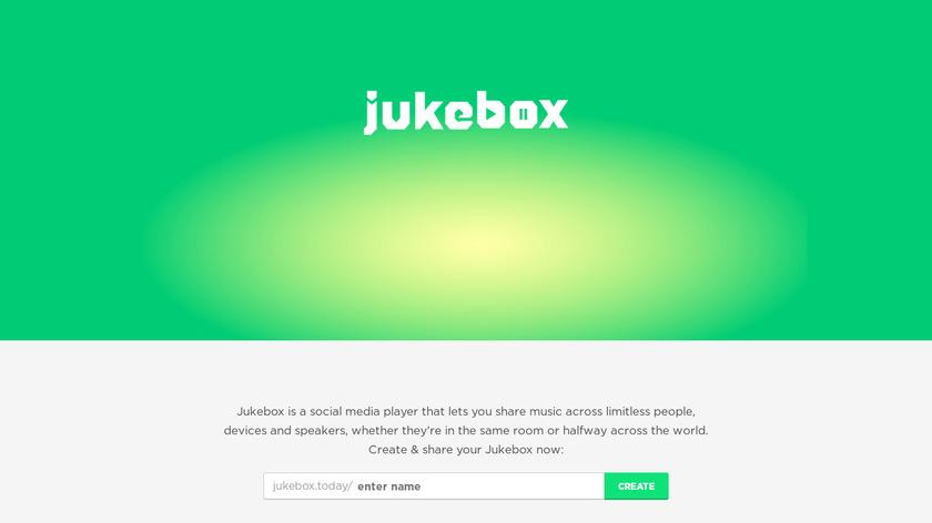 Jukebox Landing Page