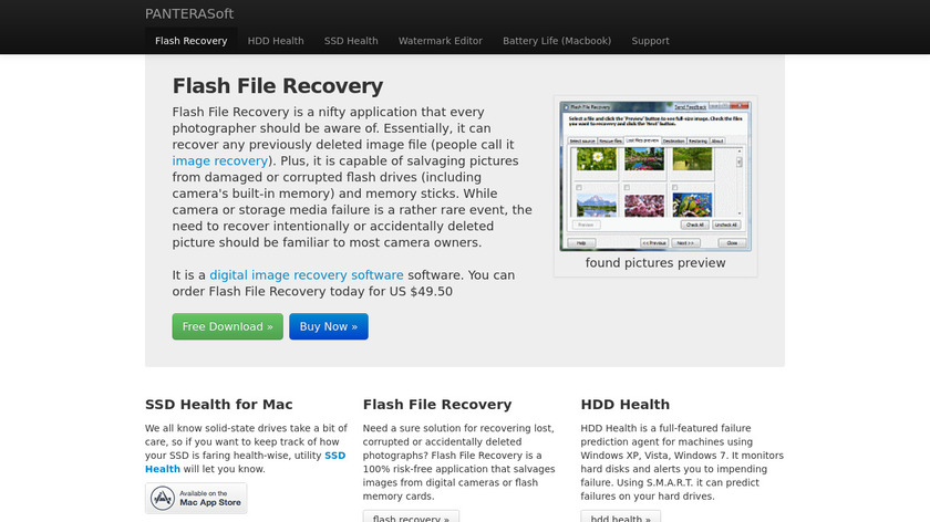 HDD Health Landing Page