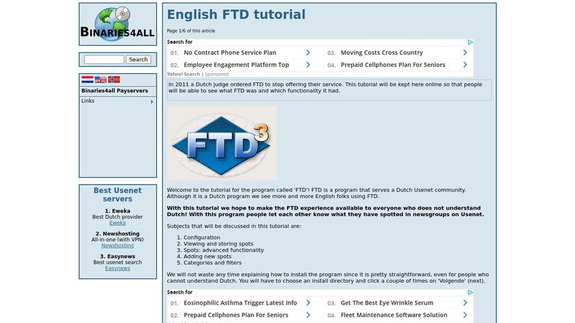 FTD Landing Page