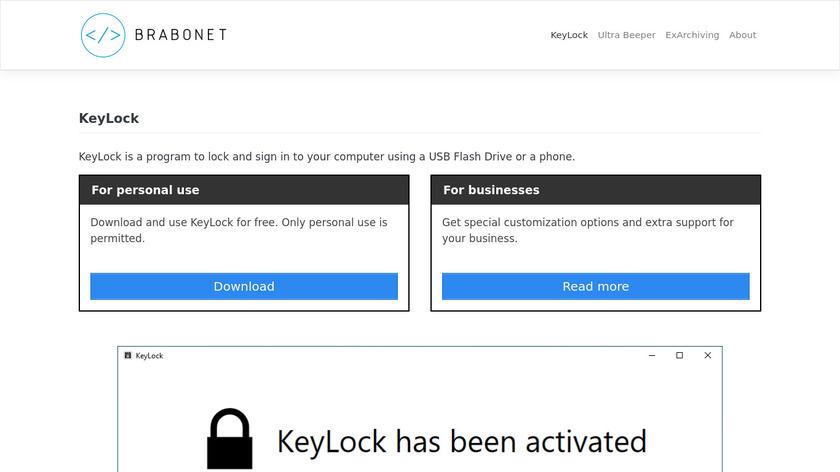 KeyLock Landing Page