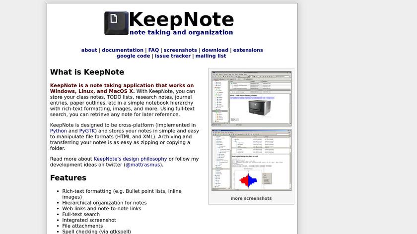 KeepNote Landing Page