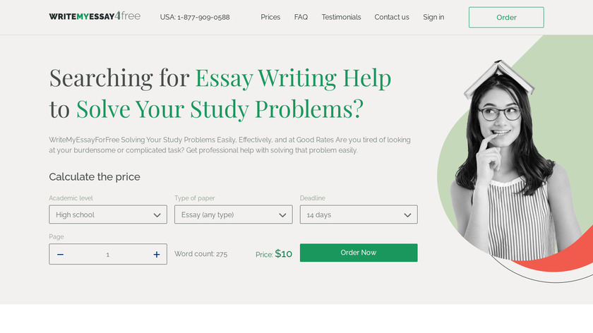 Essay4students Landing Page