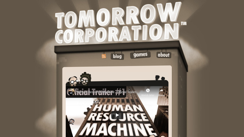 Human Resource Machine Landing Page