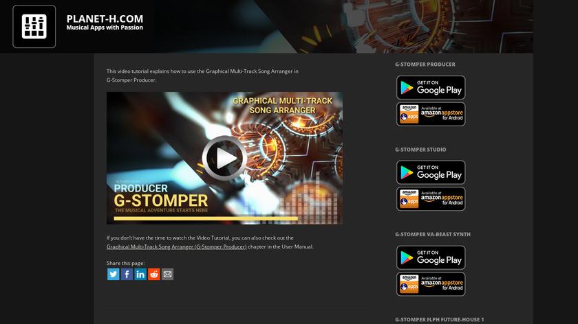 G-Stomper Studio Landing Page