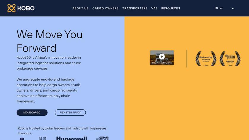 Kobo360 Landing Page