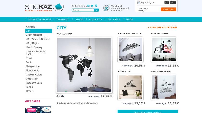 Stickaz Landing Page