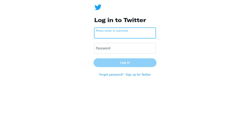 Twitter Account Home Landing Page