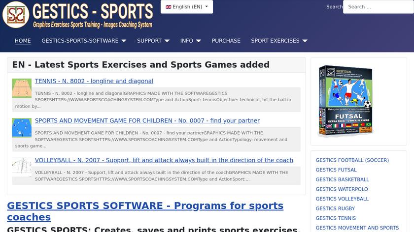 GESTICS SOCCER Landing Page