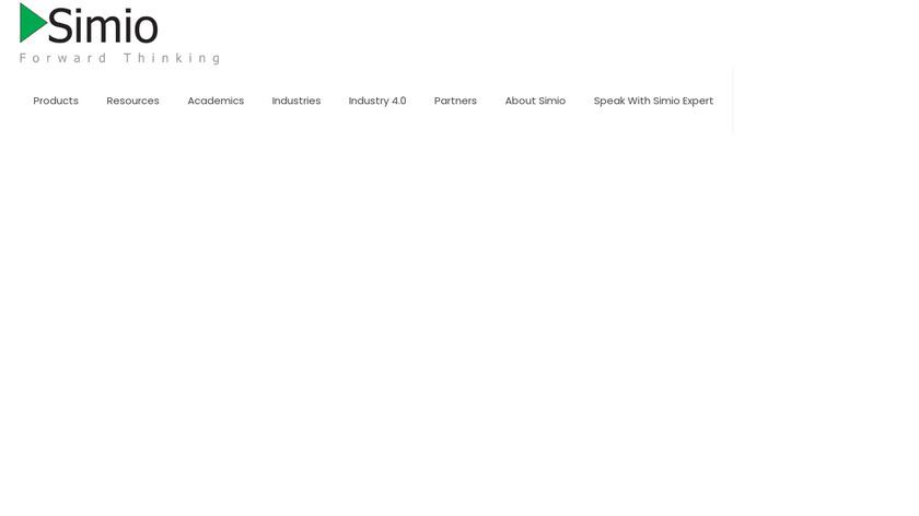 Simio Landing Page