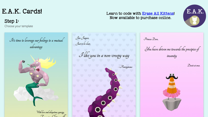 Hackable Valentines Cards Landing Page