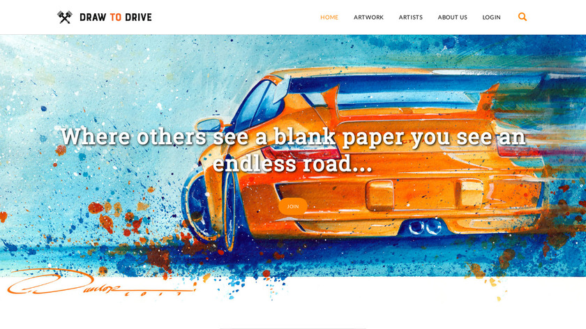 Draw to Drive Landing Page