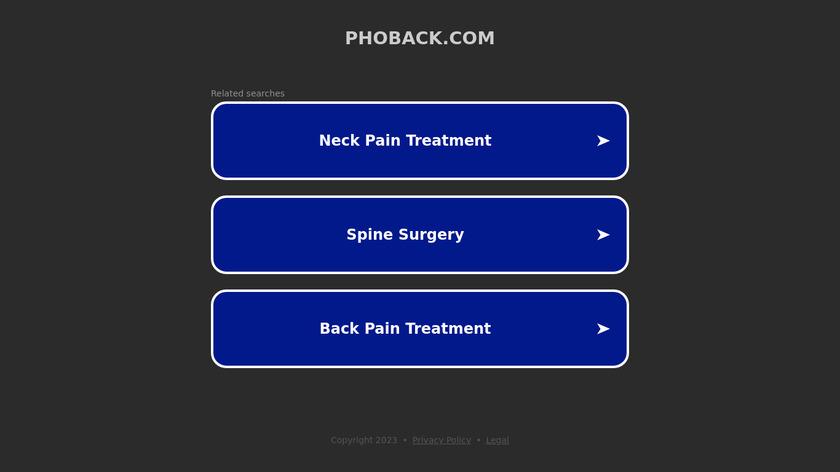 PhoBack Landing Page