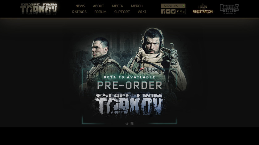 Escape From Tarkov Landing Page