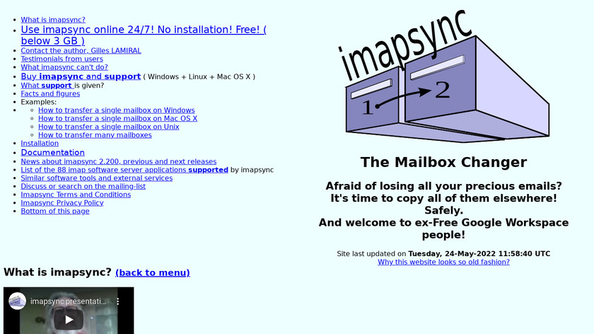 imapsync Landing Page