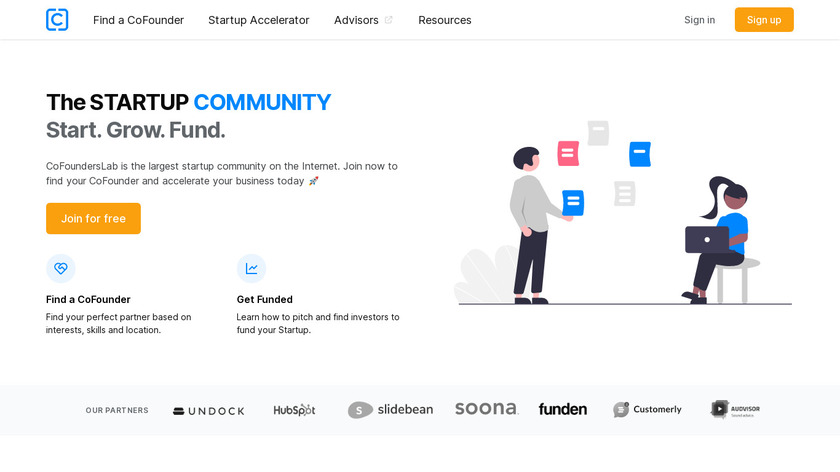 CoFoundersLab Landing Page