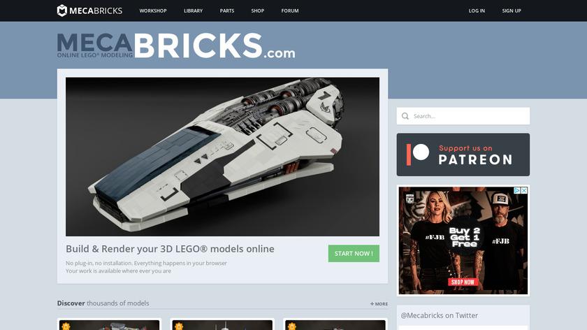 Mecabricks.com Landing Page