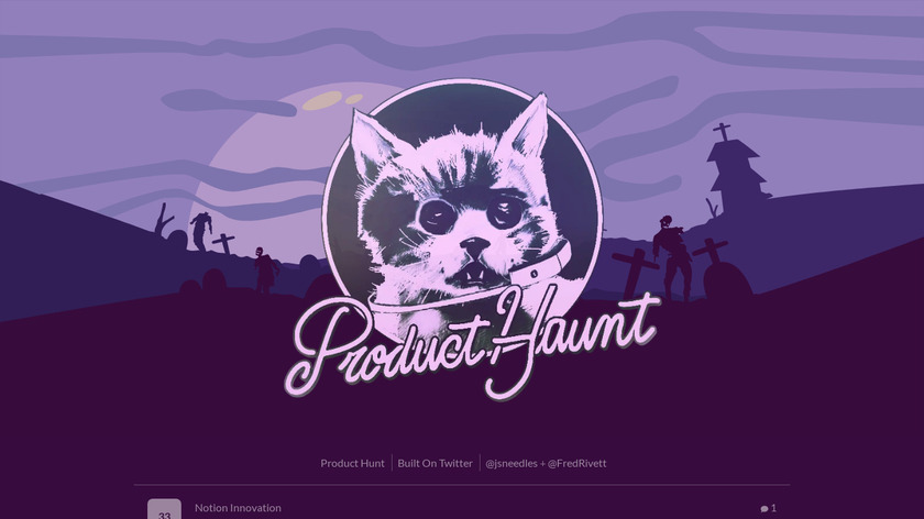 Product Haunt Landing Page