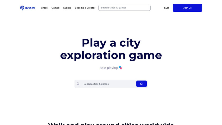 Questo | City Exploration Games Landing Page