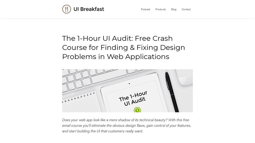 The 1-Hour UI Audit Landing Page