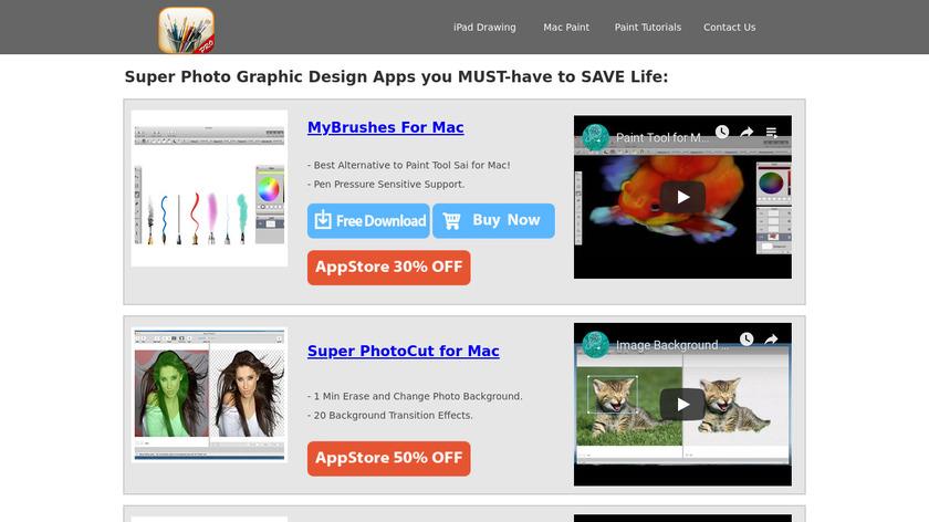 MyBrushes Landing Page