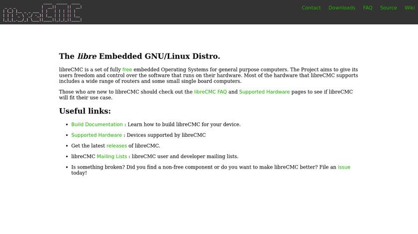 libreCMC Landing Page