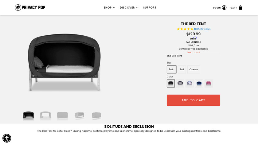 The Bed Tent Landing Page