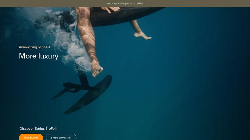 Fliteboard eFoil Landing Page