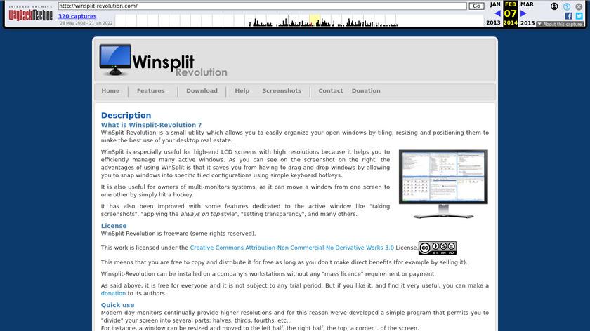 WinSplit Revolution Landing Page