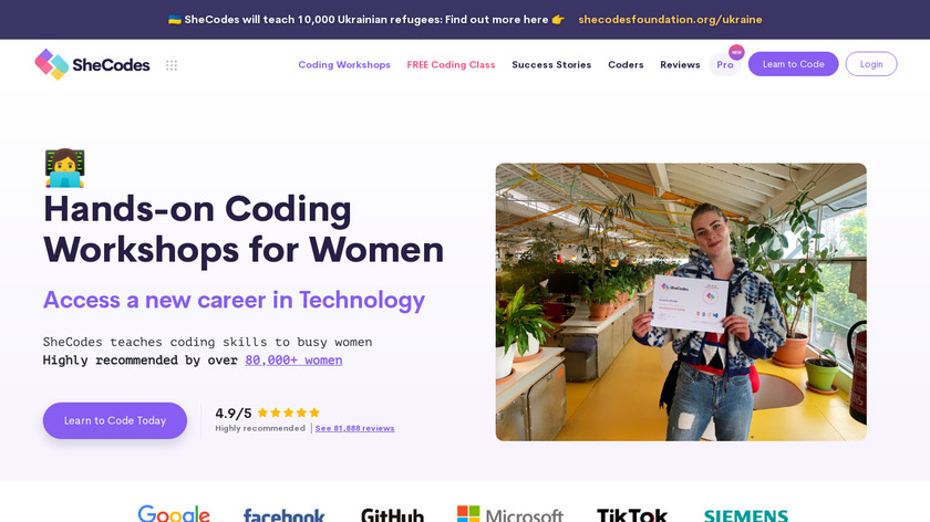 She Codes Landing Page