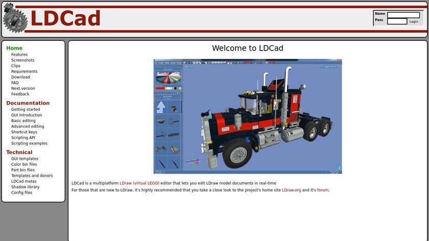 LDCad Landing Page