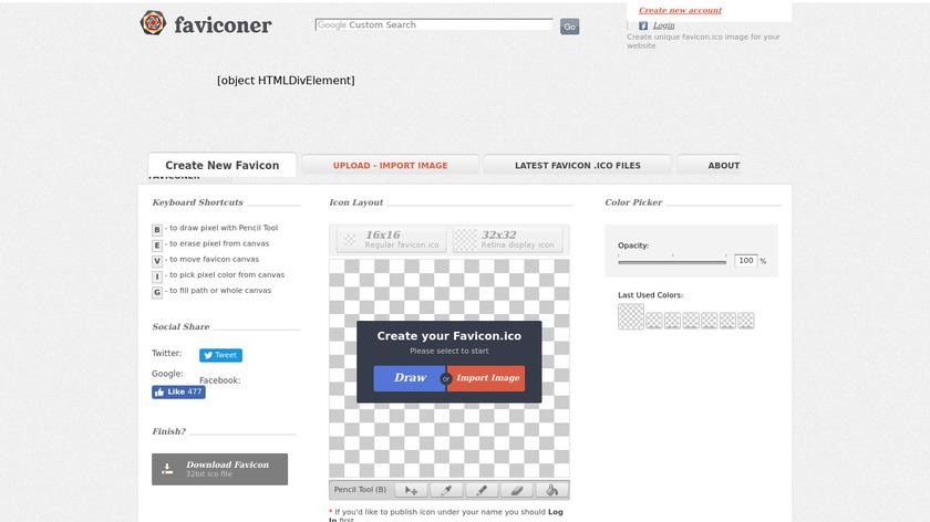 Faviconer Landing Page