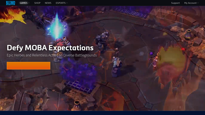 Heroes of the Storm Landing Page