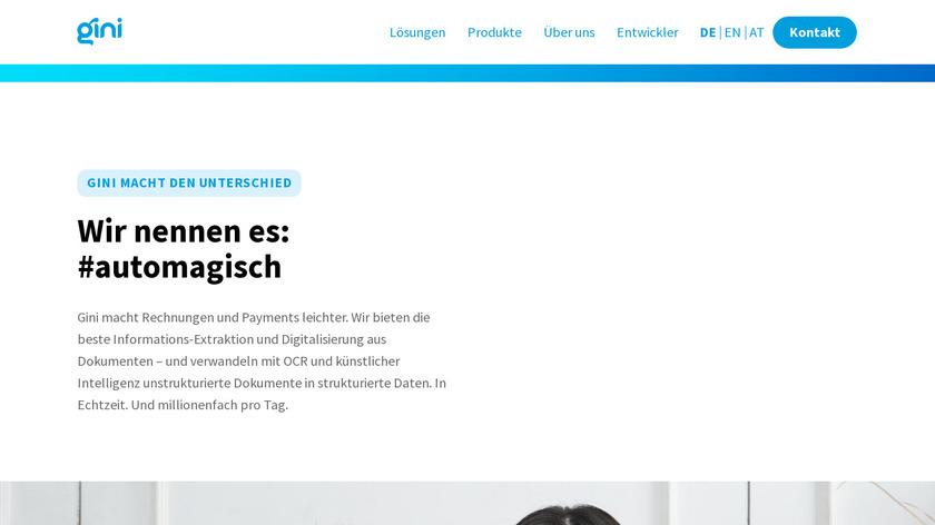 gini.net Landing Page