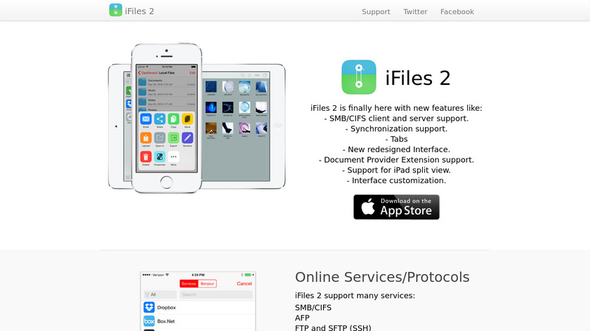 iFiles Landing Page