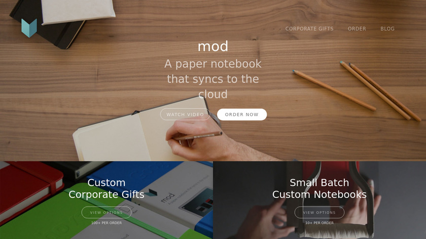 Mod Notebooks Landing Page