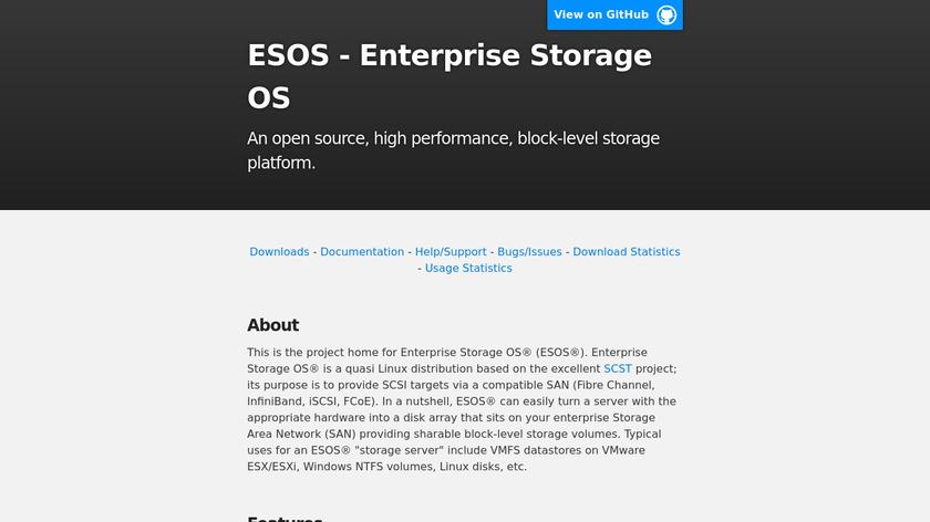 ESOS Landing Page