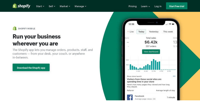 Shopify Mobile Shipping Landing Page