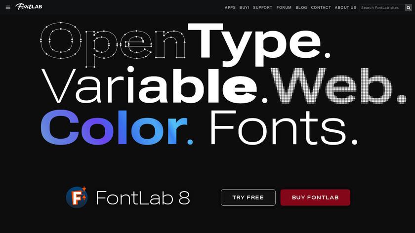 FontLab VI Landing Page