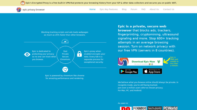 Epic Privacy Browser Landing Page