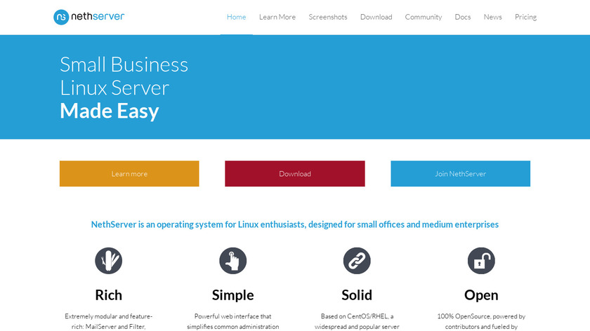 NethServer Landing Page