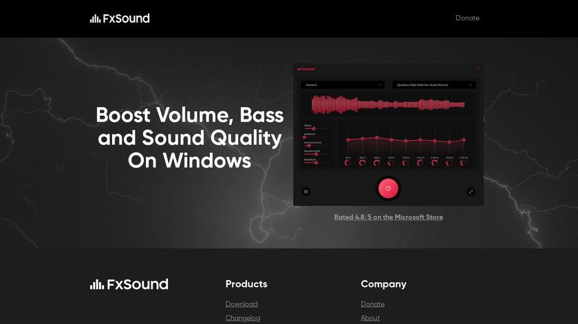 FxSound Enhancer Landing Page