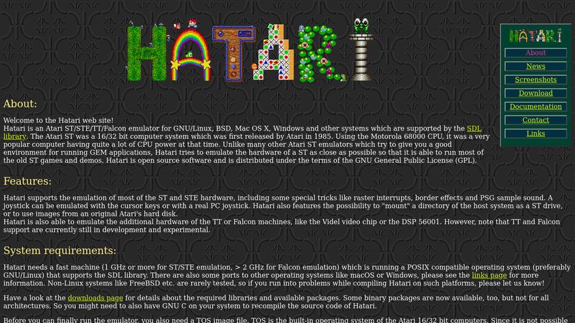 Hatari Landing Page