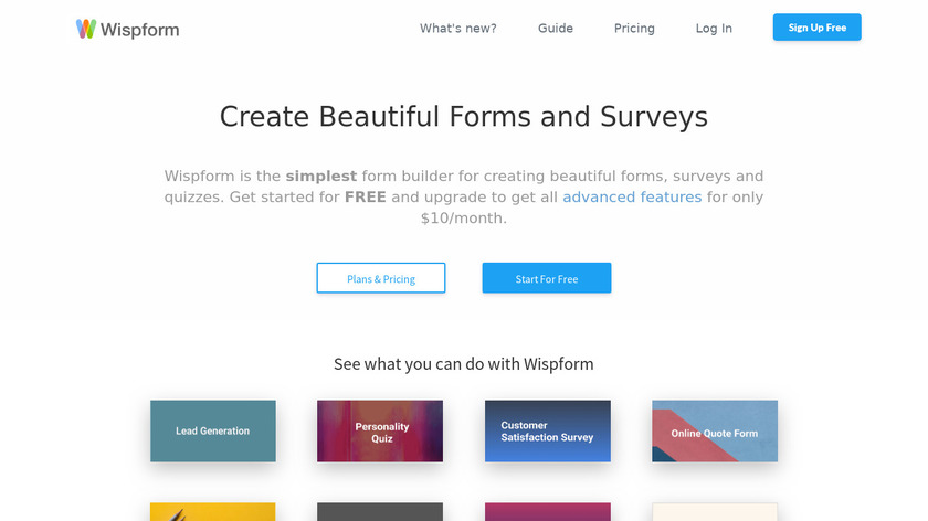 Wispform Landing Page