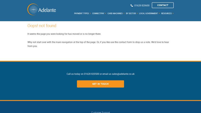 adelante.co.uk iPhone-POS Landing Page