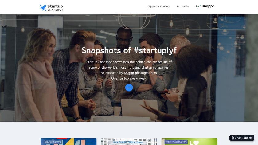 Startup Snapshot Landing Page