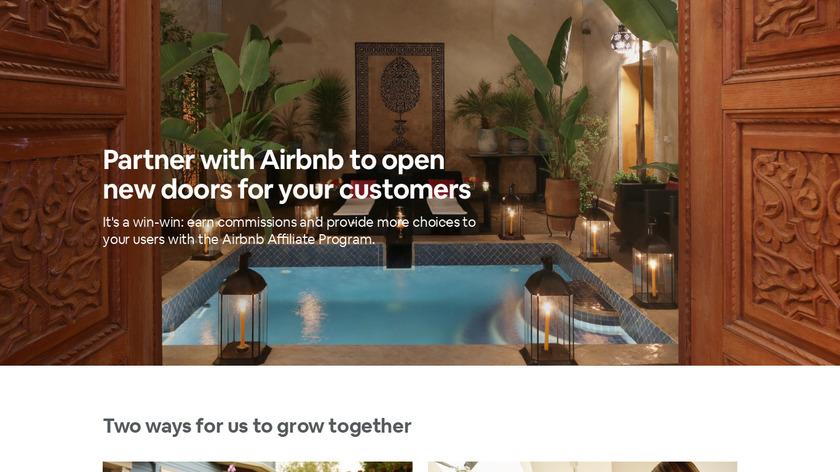 Airbnb Affiliate Program Landing Page