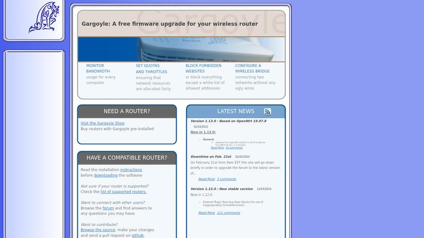 Gargoyle Landing Page