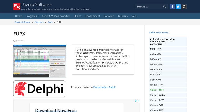 Free UPX Landing Page