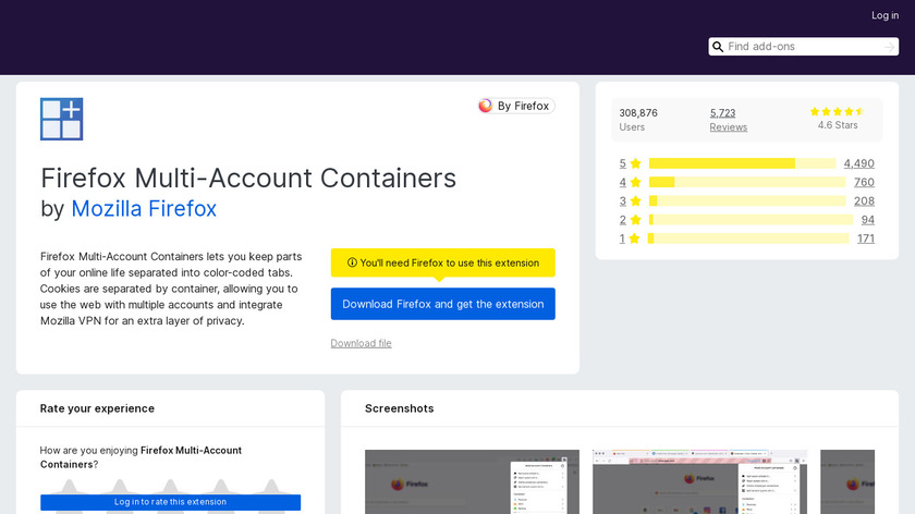 Firefox Multi-account Containers Landing Page