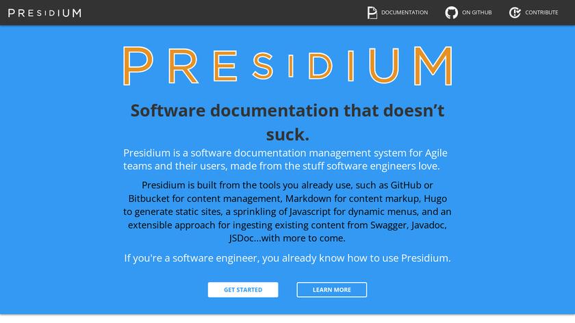 Presidium Landing Page